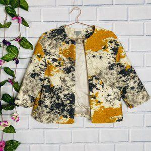 COS Cropped Splatter Print Wool Jacket   NWOT